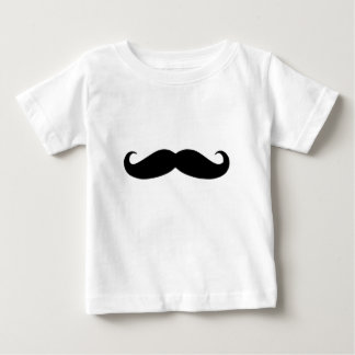 Black Mustache or Black Moustache for Fun Gifts Baby T-Shirt