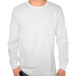 Black N Blue LS White T Tee Shirts