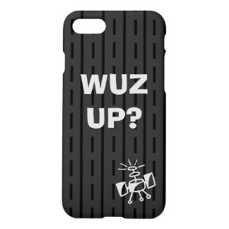 Black on Black Stripes and Dashes iPhone 8/7 Case
