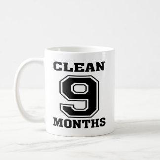 Black on White 9 Months Clean Mug