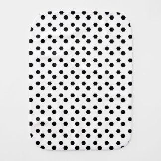 Black on White Dot Design Baby Burp Cloths