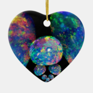 Black Opals Extradinair Gifts by Sharles Ceramic Heart Decoration