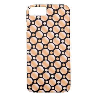 Black Orange Polka Dot iPhone 7 Case