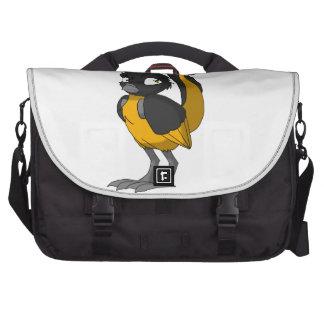 Black/Orange Reptilian Bird Commuter Bag