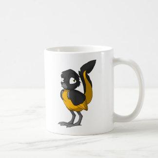 Black/Orange Reptilian Bird Mug