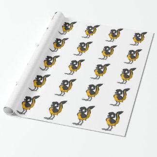 Black/Orange Reptilian Bird Wrapping Paper