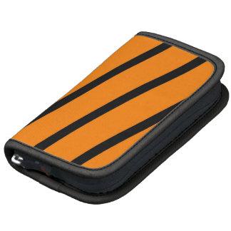 Black & Orange Stripes Folio Planner
