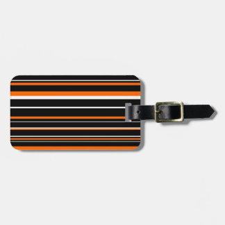 Black, Orange, White Barcode Stripe Tag For Bags