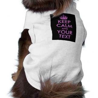 Black Orchid Keep Calm and Your Text Shirt