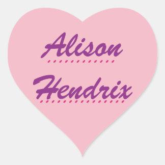 Black Orphan Alison Heart Sticker