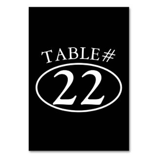 Black Oval Table Cards