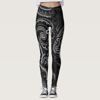 Black Paisley Bandanna Unique Retro Pants Custom