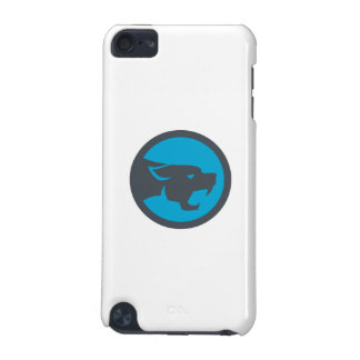 Black Panther Head Growling Circle Retro iPod Touch (5th Generation) Cover