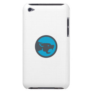 Black Panther Head Growling Circle Retro iPod Touch Case-Mate Case