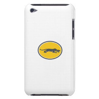 Black Panther Prowling Oval Retro Barely There iPod Cases