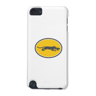 Black Panther Prowling Oval Retro iPod Touch 5G Case