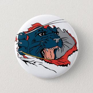 Black Panther Ripping 6 Cm Round Badge