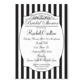Black Paris Bridal Shower Invitation