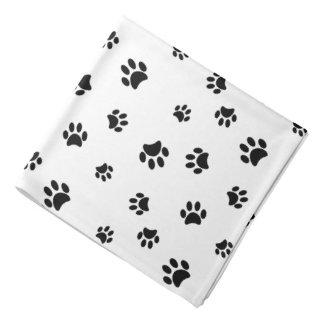 Black Paw Prints Pattern Head Kerchiefs