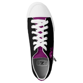 Black & Pink CapoHeads Low Top Shoes Printed Shoes