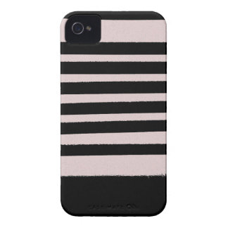 Black Pink Striped Cool Simple Patterns Case-Mate iPhone 4 Cases