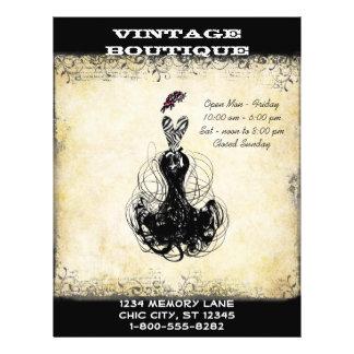 Black & Pink Vintage Dress Boutique or Business Flyer