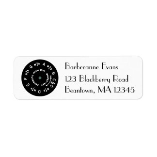 Black Pitch Pipe Return Address Label