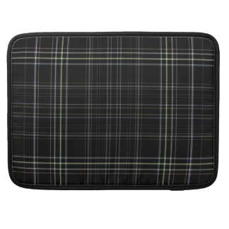 Black Plaid Macbook Pro Sleeve