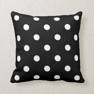 Black Polka Dot Cushion