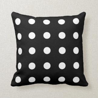 Black Polka Dots Pillows