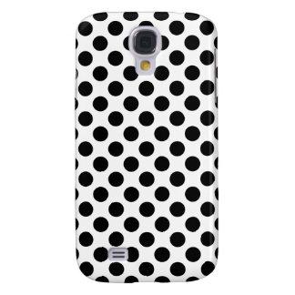 Black Polka Dots Galaxy S4 Case