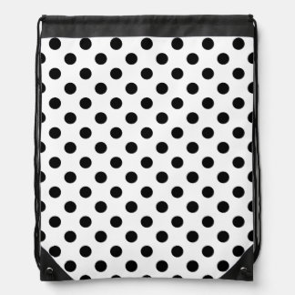 Black Polka Dots on White Background Backpack