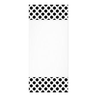 Black Polka Dots Rack Card