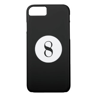 Black Pool Ball Number 8 Ball iPhone 7 Case