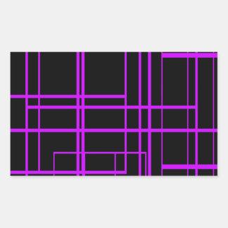 Black & Purple Laser Design Rectangular Sticker