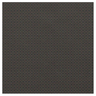 Black Qua-trefoil Patterned Combed Cotton Fabric
