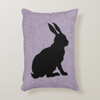 Black Rabbit Silhouette Easter Bunny Decorative Cushion