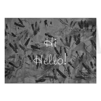 Black Rainbow Hi Hello Greeting Card by Janz