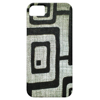 BLACK RECTANGLES ON GREY BACKGROUND BARELY THERE iPhone 5 CASE