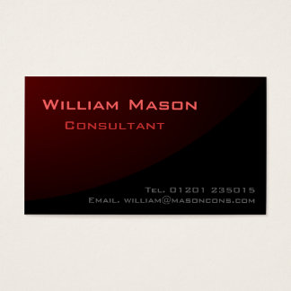 Black Red Curved, Professional Business Card