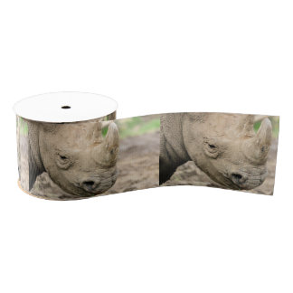 Black rhino grosgrain ribbon