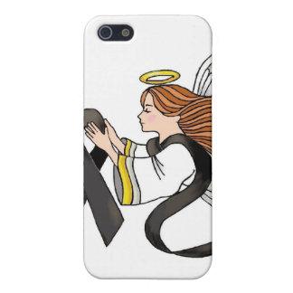 """""""Black Ribbon"""" Melanoma Awareness Angel iPhone 5/5S Covers"""