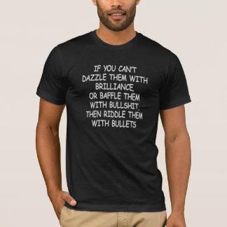 Black Riddle Them W Bullets T-Shirt