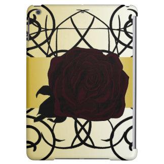 Black Rose Ornate Elegant Dressy CricketDiane Cover For iPad Air