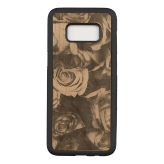 Black roses carved samsung galaxy s8 case