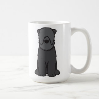 Black Russian Terrier Dog Cartoon Basic White Mug