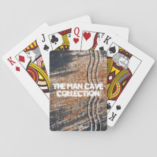 Black Rusty Grunge Background Playing Cards