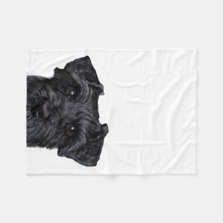 Black Schnauzer Fleece Blanket