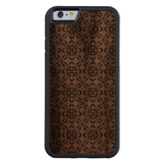 Black Seamless Pattern Wooden iPhone 6 Case