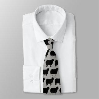 Black Sheep Silhouettes Pattern Tie